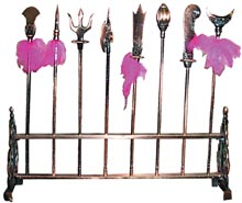 Miniature Kung Fu Weapons Rack-MO55