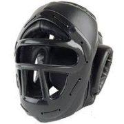 P/F Headguard w/Cage Black-Small