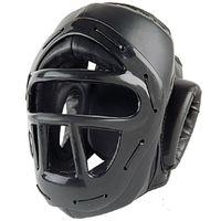 P/F Headguard w/Cage Black-Small