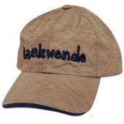 Washed Nylon Cap Khaki w/Navy-TaeKwonDo
