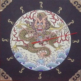 Wooden Dragon Wall Clock