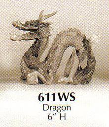 Faux Marble Stoneware Dragon-611WS