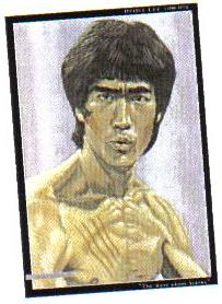 Bruce Lee Charcoal Plaque