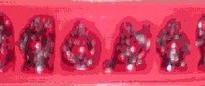 Set of 6 Deep Red Buddhas