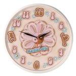 Yin Yang Flower  Wall Clock