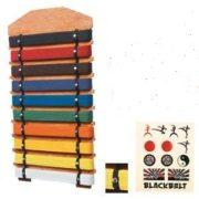 10 Level Rank Belt Display