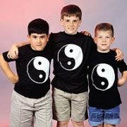 Yin&Yang Black T-Shirt    Child Med