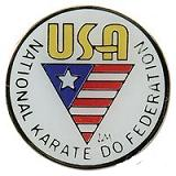 NKF USA Pin - White