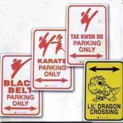 Parking Sign Black Belt - ON SALE