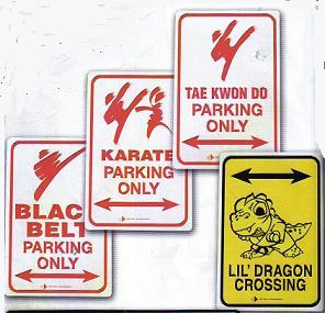 Parking Sign Black Belt - ON SALE