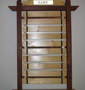 Deluxe Engraved 10 Wall Belt Rank Display-BP15E