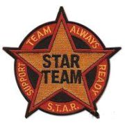 Star Team Patch-size 12 inch