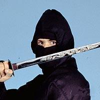 Ninja Uniform Hood Mask-BLACK