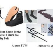 NINJA Package-Uniform Shoes Socks Belt Stars Sai