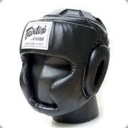 Fairtex Sparring Head Guard-BLACK