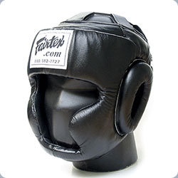 Fairtex Sparring Head Guard-BLACK