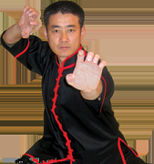 Interloop Kung Fu Top-Black w/Red Trim
