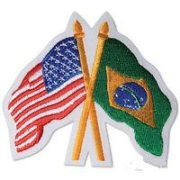 USA/Brazil Crossed Flags Patch