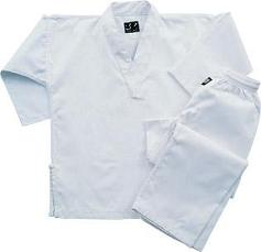 Student White V-Neck Uniform-size 000
