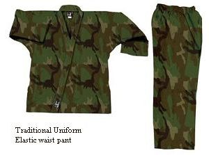 Camouflage Traditional Uniforms-Green