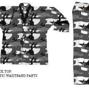 V-Neck Camouflage Uniforms-White