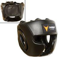 Thunder Vinyl Full-Face Boxing Headgear-Black S/M