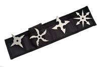 Silver THROWING STAR set of 4- 210817sl