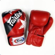 Fairtex Training Gloves With Nation Print- RED