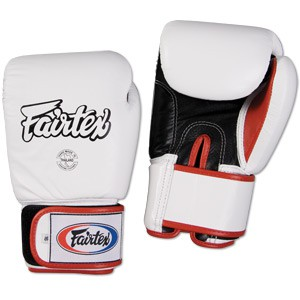Fairtex Thai-Style Sparring Gloves-16oz White