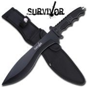Survivor Black Stainless Steel Knife - HK-717