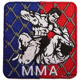 Square Cage MMA Patch
