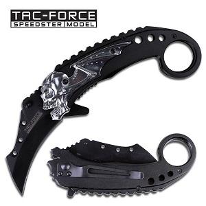 TacForce Skull/Bat Wing Karambit Knife
