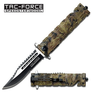 TacForce Camo Rescue Knife