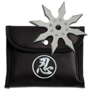 8 Point Silver Steel Ninja Star