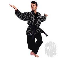 Hapkido Gi 8.5 oz 55%-45% BLACK size 8