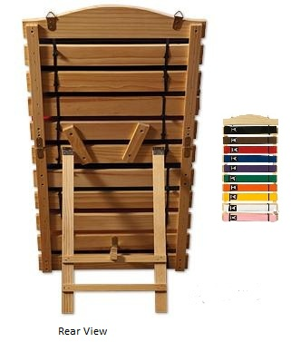 Free Standing Wooden 10 Belt Display