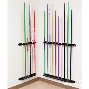 Wooden Bo Staff SIX Wall Display Rack