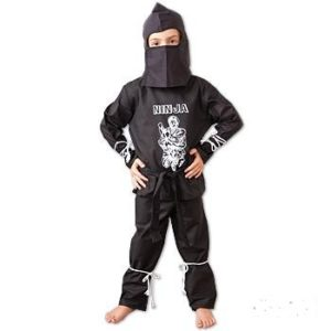 Ninja Costume Black Uniform size Youth X-Small