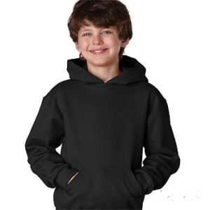 Blank Hooded Sweatshirt-Youth Medium