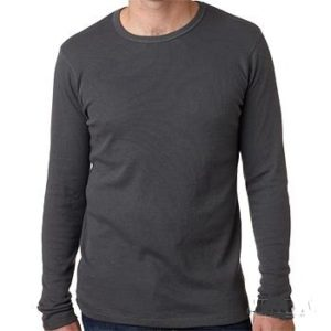 Men's Long Sleeve Thermal - Dark Grey -All Sizes