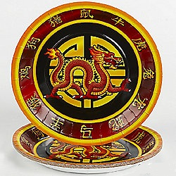 Karate Dragon Dinner Plates