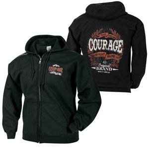 Courage to Fight Zip Hoodie