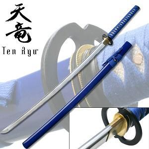 Hand Forged Samurai Warrir Sword -Blue