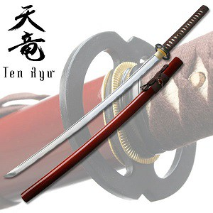 Hand Forged Samurai Warrior Sword -Red