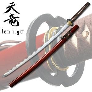 Hand Forged Samurai Warrior Sword -Red