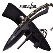 "Survivor Fixed Blade Knife 8"" - Camo"