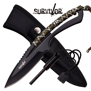 """Survivor Fixed Blade Knife 8"""" - Camo"""