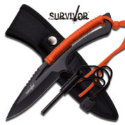 "Survivor Fixed Blade Knife 8"" - Orange"