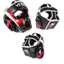 "Venum ""Elite"" Headgear - Black/Red/Ice"