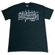 TKD Terminology Tee Shirt - Black